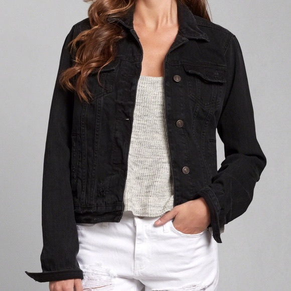 Abercrombie & Fitch Black Denim Jacket